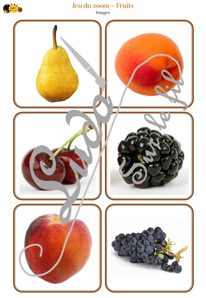 Jeu du zoom - Fruits et Légumes - Potager - Printemps - cartes classifiées à associer aux détails - à télécharger et à imprimer - atelier maternelle - vocabulaire et connaissances - autocorrectif - lslf