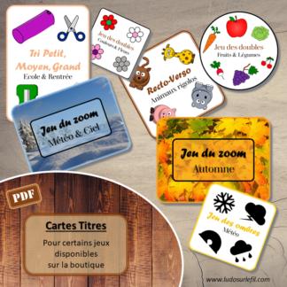Cartes titres - Couvertures des jeux - téléchargement gratuit - lslf