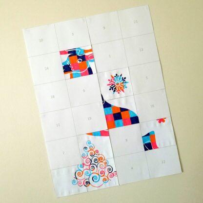 Calendrier de avent - Tableau surprise de Noël à colorier - Pixel Art, 24 et 48 case - Renne, sapin, et flocons - Coloriage en attendant Noël - Patience et précision - jeu à télécharger et à imprimer - lslf