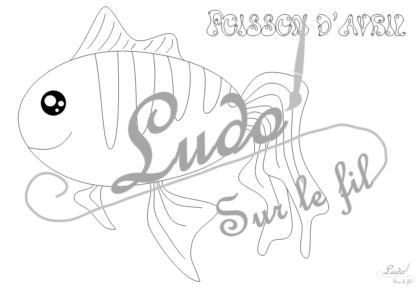 Coloriages gratuits de poissons pour le 1er avril - 8 coloriages différents en 3 version - avec titre et sans titre - animaux marins - a accrocher dans le dos - blague - à télécharger et à imprimer - Jeu - Lslf