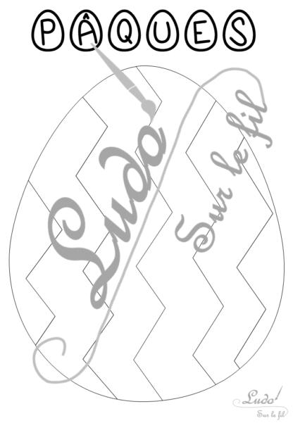 Coloriages gratuits Oeufs décorés pour Pâques - 9 coloriages différents en 5 versions - avec titre et sans titre - Chasse aux œufs, panier de Pâques - à télécharger et à imprimer - Jeu - Lslf