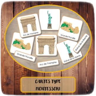 Cartes Type Montessori