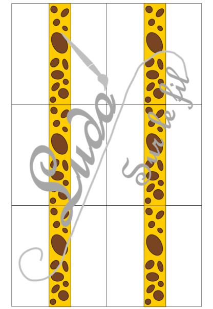 Jeu Qui aura la plus grande girafe - Animaux de la savane - Jeu de dés, de mathématiques et de dénombrement de 1 à 12 - Notions de mesures et longueurs - Suite numérique et représentations des chiffres - Atelier maternelle à télécharger et imprimer - cycle 1 - additions et calcul - lslf