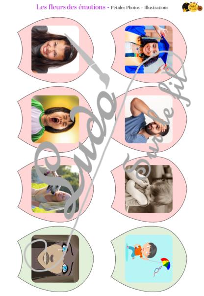 Les fleurs des émotions - Jeu d'association pour aborder les émotions avec les enfants - Reconstitue les fleurs en associant émotion, photo, illustration, couleur, phrase description de l'émotion, smiley et situations ou objets - Thème printemps - Support au dialogue, au langage oral, à l'explicitation, au vocabulaire - Document PDF à imprimer Gratuit - Préscolaire, maternelle et élémentaire - 12 émotions - atelier - Cycle 1 ou 2 - à télécharger et à imprimer - lslf